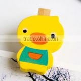 made in China hot sale wholesale high quality promotion gift wooden chothespins cute design wood duck clips