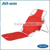 new style cheap foldable space-saving beach chair with ice bag and backrest