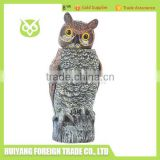 Rotating Head PE Plastic Night Owl For Hunting / Pest Control