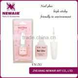 Newair friendly nontoxic 7g high quality nail glue with brush