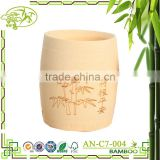 2016 New design healthy design bamboo fibre cup with custom logo