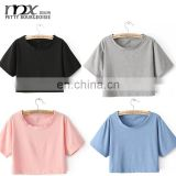 2016 Plain crop tops wholesale girls cool summer tops designer western tops images of girls party wear tops