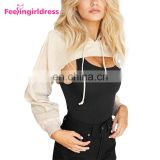 Hot Sale Sexy Hoodies Women Long Sleeve Ladies Crop Top