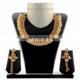 Designer Exclusive Plated Gold Jewelary Set - gold plated necklace set