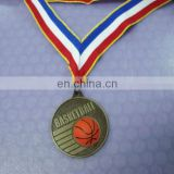 basketball sport medal and ribbons