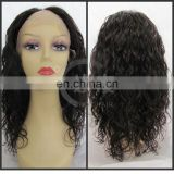 indian virgin hair u part wig cheap remi human hair right side u part wig cap, u-part wigs for black women