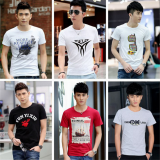 2018 Summer inventory men's round collar short sleeve T-shirt low price source clearance