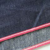 10.2oz Natural Vegetable Dye Indigo Organic Selvedge Denim Material With Linen W0472A-24
