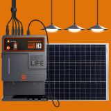 Solar Mobile Charger with 3 LED Bulbs