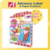 Bear Animal Birthday Party Stencil Paper craft Creative Card Set DIY Card Making Kit