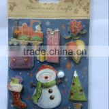 christmas decoration best selling premium 3D christmas paper sticker