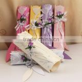 Colorful Rainbow Theme Blossom Scroll Wedding Invitations Blank                                                                         Quality Choice