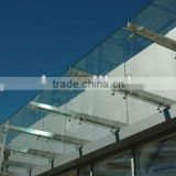 tempered glass entrance door/glass canopy