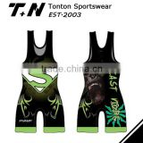 2015 -2016season latest design sublimation custom fitness state hot sale cheap wrestling singlets