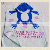 Baby Hooded Towels, Baby Poncho with Vivid Printing