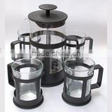 Glass French coffee plunger set