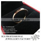 2015 simple design cheap wholesale 925 black CZ silver fashion rings for girl