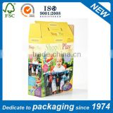 Custom Eco-friendly Big Packaging Corrugated Printed Carton Box with Handle for Shipping