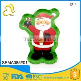 welcome custom 12 inch plastic melamine christmas dish