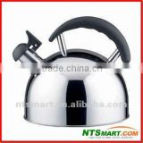 Whistling Stainless Steel Kettle with Fixed Handle and 2.5L Capacity, Suitable for Restaurant