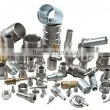 High Pressure Carbon Steel /Stainless Steel /Copper Flared Pipe Fittings,Hose Barb Fittings ,Metallic Pipe Coupling