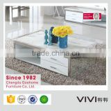 Factory direct sale modern marble coffee table with storage