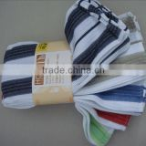 Yarn Dyed Stripes Plain Color Waffle Weave Tea Towel Cotton Kitchen Towel