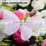Delicate white artificial feather butterflies wedding decoration;Lovely white feather butterfly garland for event&party(MBU-001)