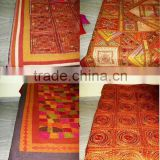 Amazing handamde King Size Bedspread with Hand Embroidery And Patchwork all over give us Ethnic Tribal vintage Bohemian look