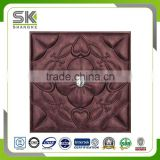 Leather 3D decorative panels for wall and ceiling decorative producted by leather instead of wall