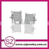 EAR 0008 gold or silver nice earring tops designs with screw back alibaba china