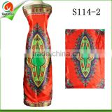 Ankara silk fabric digital printed hollandis wax fabric pattern satin fabric in bangalore