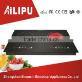 Built in double zone electric cooktop,induction cooker vs infrared cooker,dual burner cooking stove