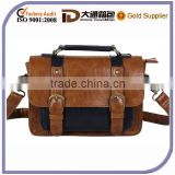 Faux Leather Men Designer Leather Small Briefcase Handbag With Lock
