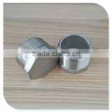 "Stainless Steel Threaded Pipe Fitting 1"" Cast Plug NPT Taper Male Thread"