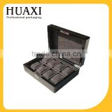 accept OEM luxury carbon fiber wooden watch storage box with key lock                                                                                                         Supplier's Choice
