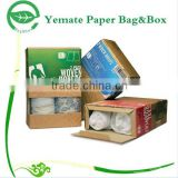 Save Freight! 4C printed brown kraft corrugated paper flat folding gift underwear packaging box