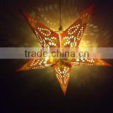 battery operate hanging light paper star indoor christmas decoration