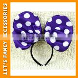 PGHD0236 China manufacturer big bowknot party headband minnie-mouse ears