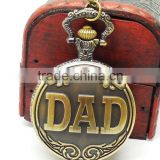Fashion DAD Japan movt quartz pocket watch/quartz pocket watche/Japan movt watches