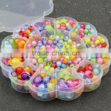 Transparent color kids diy handmade beads jewelry kits for make bracelets                                                                         Quality Choice
