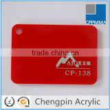 factory direct sales red acrylic sheet wholesale