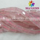 Rose Quartz octagonal cut Beads,Fancy shaped beads