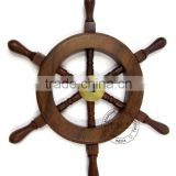 "9"" DECORATIVE WOODEN SHIP WHEEL MANUFACTURER"