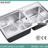 popular Asia foshan metal kitchen sink base cabinet 8344