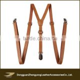 Wholesale custom skinny men's leather suspenders