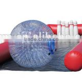 hot sale inflatable human bowling game/bowling alley/sports games