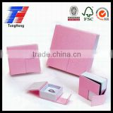 Custom exquisite high quality elegant jewellery box ring box pink gift box wth reasonable price
