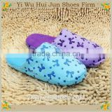 Embroidery Hotel Slippers Slipper Socks With Rubber Sole