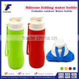 Bpa free custom/customized foldable silicone drinking water bottle with filter manufacturing/factory/wholesales